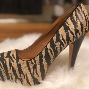 Charlotte Russe zebra print pumps. Like New. Size9